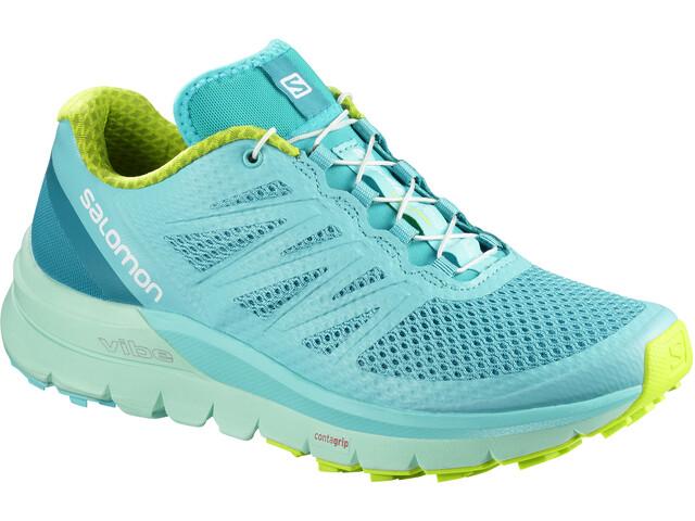 Salomon Sense Pro Max Shoes Women blue curacao/beach glass/acid lime
